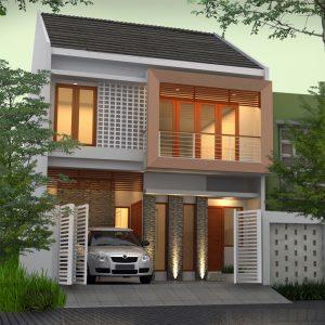 desain rumah dengan bata merah