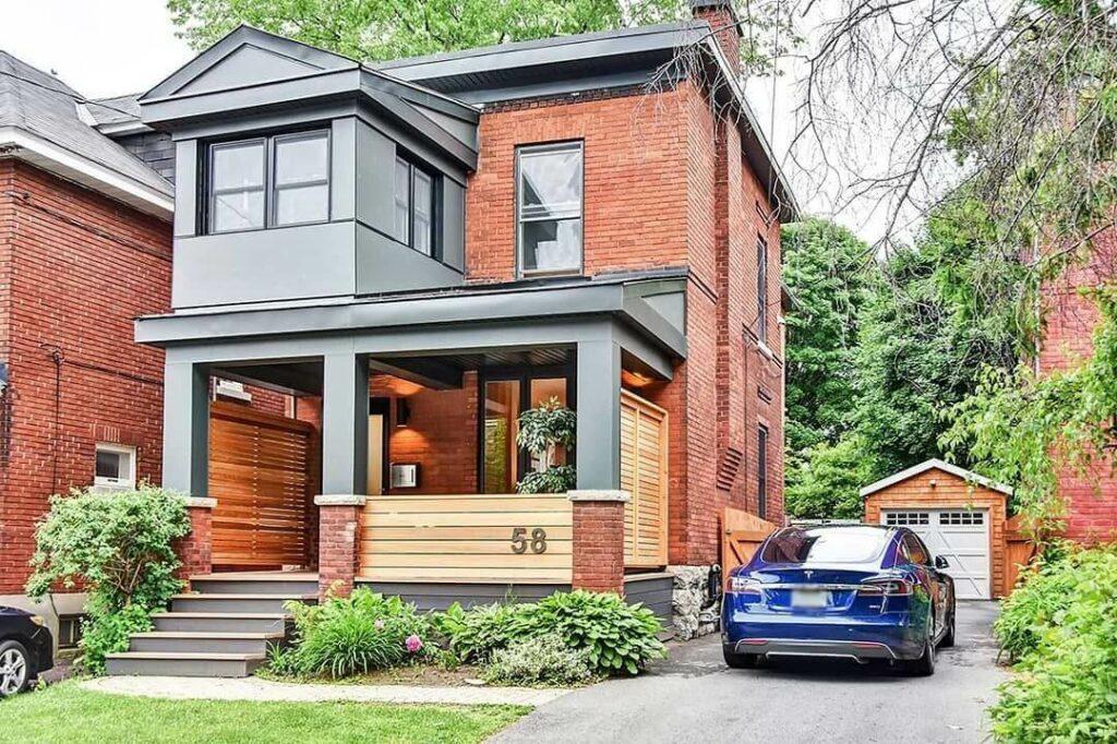 rumah modern bata merah
